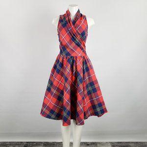 Retrolicious Red & Blue Plaid Dress Size M